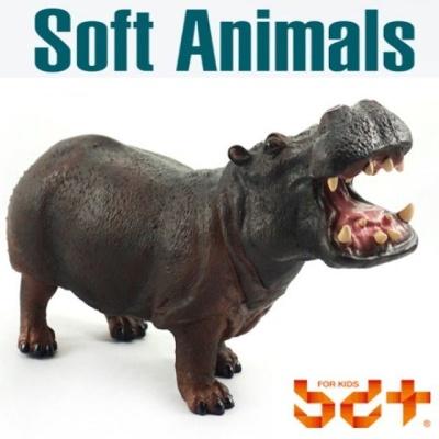 반디 하마 말랑말랑 소프트피규어 동물모형완구 동