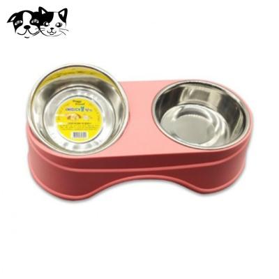 도기프랜드 에띠 더블식기 (핑크) (애완용 식기)