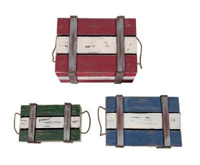 빈티지 우드 박스 Vintage Wood Box (3P set)