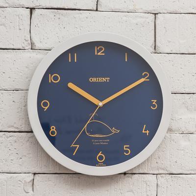 오리엔트 무소음 OT683E 딥블루웨일 인테리어벽시계
