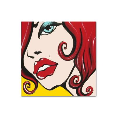 DIY 페인팅 빨간 입술의 여인 PB10 (25x25)