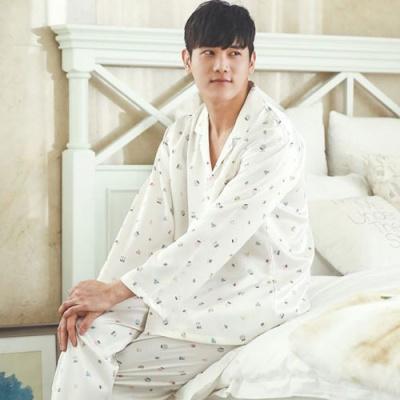 [쿠비카]러블리 깔끔 크림쿠킹 원피스 커플잠옷 WM015
