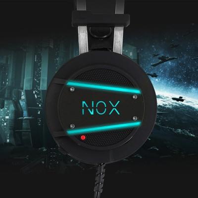 녹스 게이밍 진동 헤드셋 NX-3 (7.1채널 서라운드 / 50mm 네오디뮴 스피커 / 6색 LED)