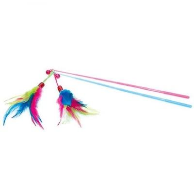 고양이 낚시 막대 방울 깃털 사냥 놀이 용품 장난감