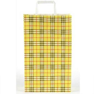 체크 무늬 종이 쇼핑백 회사 단체 선물 기념품 포장