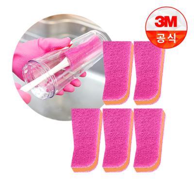 [3M]보틀 수세미용 리필(1입)_플라스틱용 5개