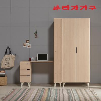 리아프 스터디 세트 H형 책상+장롱 800