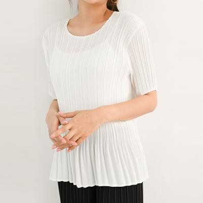 Pleats Flare Top - 반팔