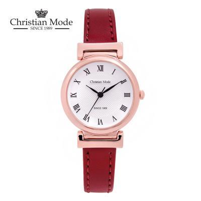 크리스챤모드 커플 가죽 시계 (여성용)