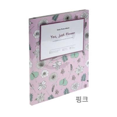 [드림산업] 유저스트플라워흑지접착앨범15매(핑크) [권1] 377211