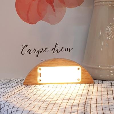 식탁조명 주방조명 인테리어 LED 반원형 오크
