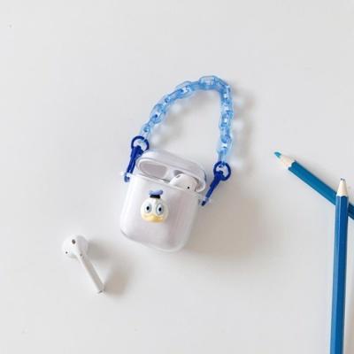 에어팟프로 투명케이스 스트랩 1 2 3세대 입체 실리콘