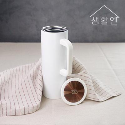 [생활엔] 보온 보냉 커피머그 올스텐 화이트 450ml