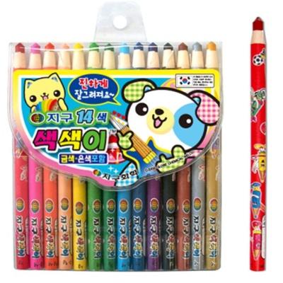 지구 학생용색연필 색색이 14색 41747