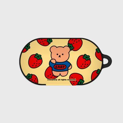 strawberry bear-yellow(Buds hard case)