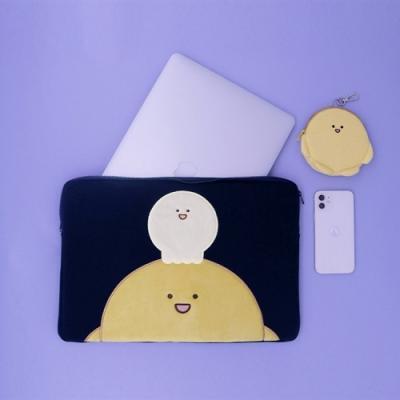 도우도우 노트북 파우치_다크블루