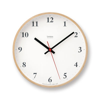 LEMNOS [LC10-21] PLYWOOD CLOCK