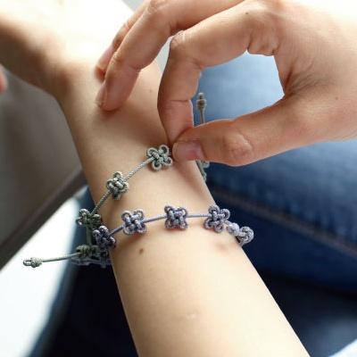 전통 매듭 팔찌 DIY 키트 - 여름색상