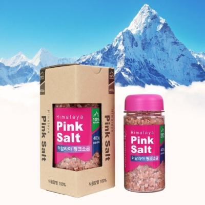 히말라야 핑크 소금 솔트 400g 대용량 천연 암염 100%