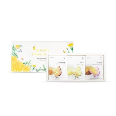 나비티백 3종 세트(메리골드, 목련, 국화)+쇼핑백