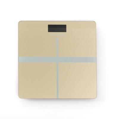 크로스 사각 디지털 체중계(옐로우)