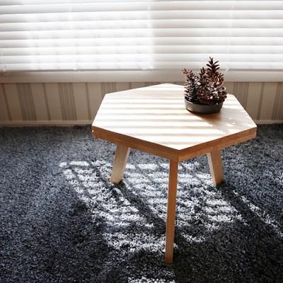 벤트리 원목 헥사곤 테이블
