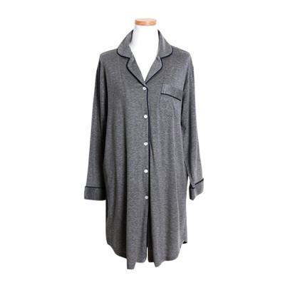[쿠비카]모달 카라형 원피스 긴팔 여성잠옷 W335