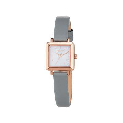 미니 스퀘어 윈도우 시계 그레이 W217LWGR