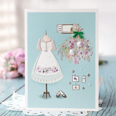 자수 꽃 카드 FT1036-4
