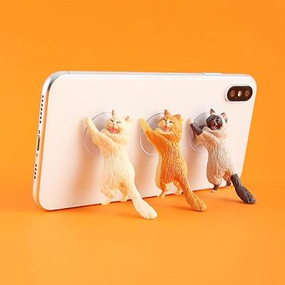 미니 고양이 피규어 휴대폰 스마트폰 거치대/장식인형