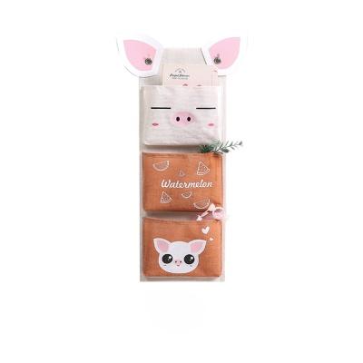 PH 동물 캐릭터 벽걸이 수납 월포켓 3포켓