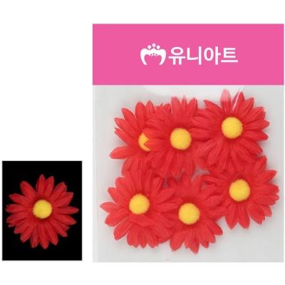유니아트 (조화꽃) 1500 뿅국화 (빨강)
