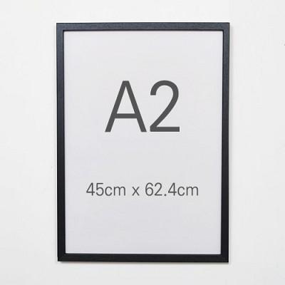 데코 포토프레임 A2 대형액자 420x594 - 벽걸이전용 사진액자 우드액자 MDF