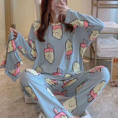 밀크티 긴팔 귀여운 캐릭터 잠옷 홈웨어 파자마세트