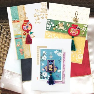 카드/축하카드/감사카드/연하장 금의환양 복주머니 FT223 Set456 (3종 한세트)