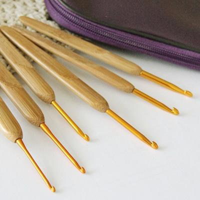 대나무 손잡이 코바늘(모사용/레이스용)