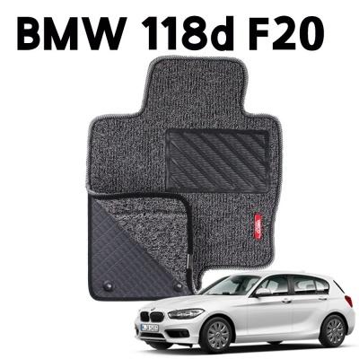 BMW 118d F20 이중 코일 차량용 차 발 깔판 매트 Gray