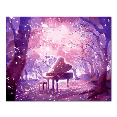 DIY 페인팅 핑크숲과 피아노 PL89 (40x50)