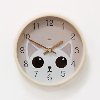 (kdrz144)저소음 큐티 고양이 시계 255