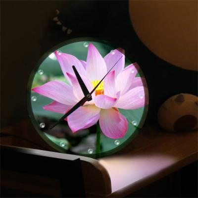 nf369-LED시계액자25R_풍수신비로운연꽃