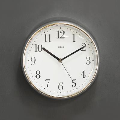 (ksam037)저소음 크롬벽시계 (308)