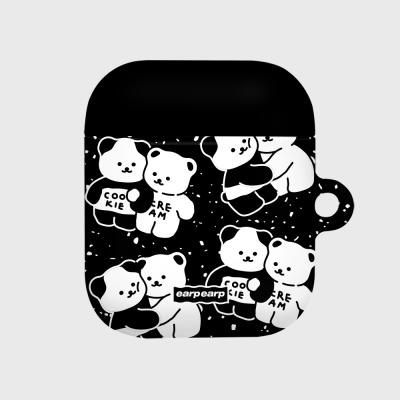 Cookie cream pattern-black(에어팟 하드)