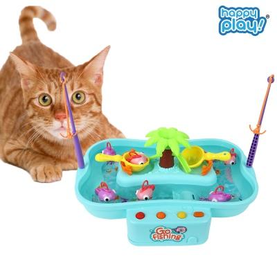 해피플레이 고피싱 움직이는 고양이 낚시대 장난감