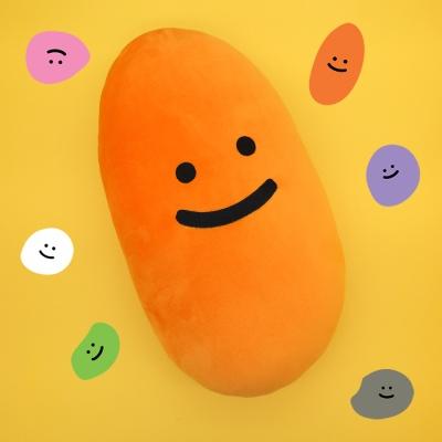 [한톨상점]돌맹쓰 모찌쿠션(오렌지)