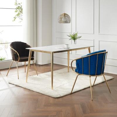 캘리 세라믹 마블 골드 식탁 세트 1400 + 의자 2개포