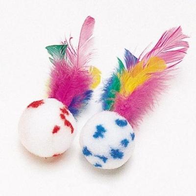 펫모닝 고양이 장난감 폼폼볼 공 깃털 사냥 놀이