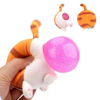 풍선부는 동물 엉덩이 버블 말랑이 봉제 인형 장난감