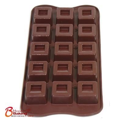 실팬 15구 초콜릿몰드-사각