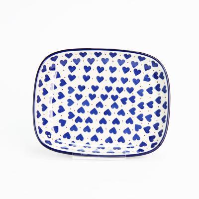 폴란드그릇 아티스티나 라운드직사각/소 패턴570A