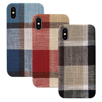 P193 아이폰11 체크패턴 패브릭 심플 젤리 케이스